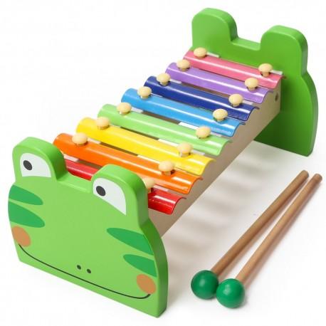 Detský farebný xylofón - Žabka