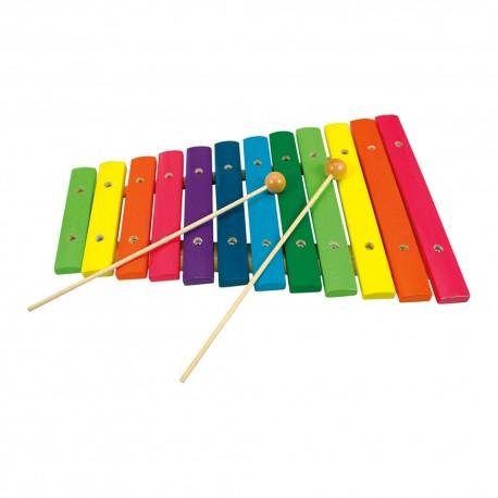 BINO detský drevený xylofón