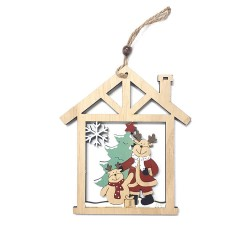 Drevená závesná deklorácia do okna - Sob