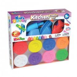 KID´S TOYS farebná plastelína set Kuchyňa