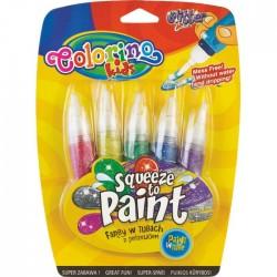 Colorino Kids štetcové temperové farby v tube Glitter