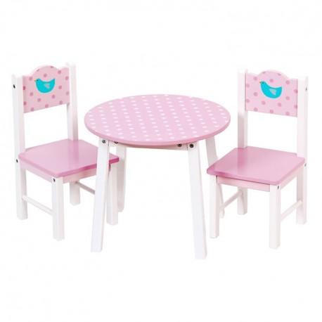 Mentari Detský drevený stôl a stoličky pre bábiky