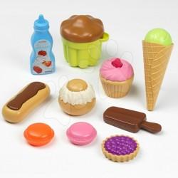 ÉCOIFFIER Potraviny na hranie - Sladkosti a koláče v sieťke 10-dielne
