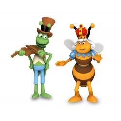 Schleich 27014 Včielka Maja - Kráľovná a Filip lúčny koník - 2-dielny set