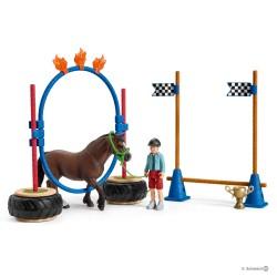 Schleich 42482 Preteky v agility pre poníky