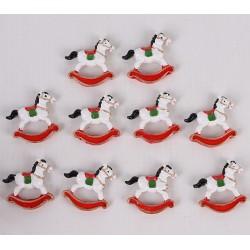 IMP-EX Vianočné dekorácie - hojdacie koníky 8 kusov