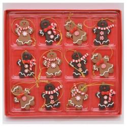 Ozdoby na vianočný stromček - medovníky 12 kusov