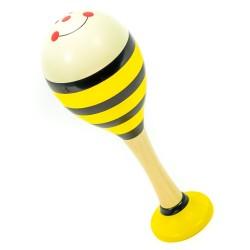 Rumbagule - maracas veľké - žlté pruhované - 1 kus