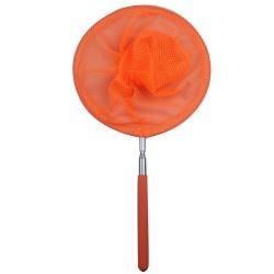 Sieťka na chytanie motýľov a hmyzu s teleskopickou rúčkou - oranžová 83,5 cm
