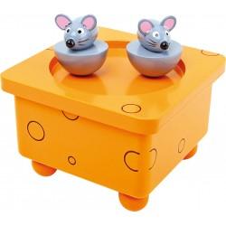 Small Foot Drevená hracia skrinka - myšky