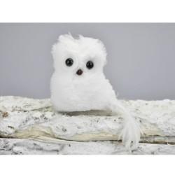 IMP-EX Vianočná ozdoba - biela sova na štipci