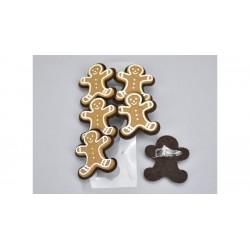 Drevené dekoračné štipce 6 ks - medovníky