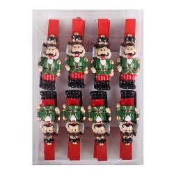 Drevené dekoračné štipce 8 ks - vojaci