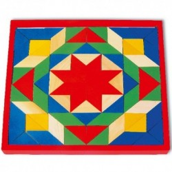 Legler Drevená farebná mozaika - 80 dielikov
