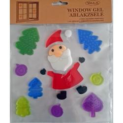 Vianočné ozdoby - nálepky na okno Mikuláš a stromčeky