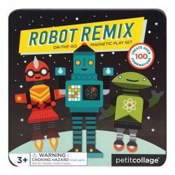 Petitcollage Magnetická knižka Roboti