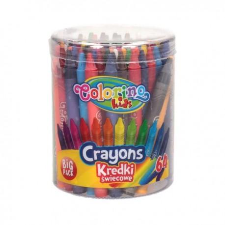 Colorino Kids farebné voskovky 64 ks vo valci