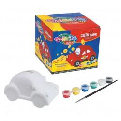 Colorino Kids Pokladnička na vymaľovanie - Autíčko