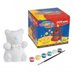 Colorino Kids Pokladnička na vymaľovanie - Medvedík