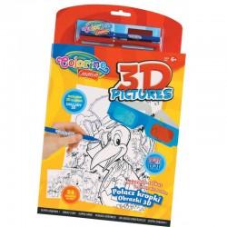 Colorino Kids Magická knižka 3D omaľovánky podľa čísiel s okuliarmi
