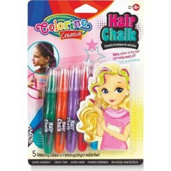 Colorino Kids farebné kriedy na vlasy - 5 farieb
