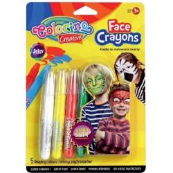 Colorino Kids pastelky na maľovanie tváre 5 farieb