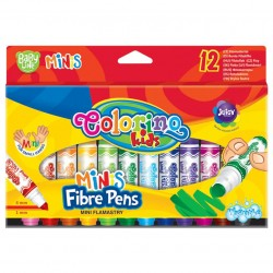 Colorino Kids farebné fixky Baby line Minis 12 farieb