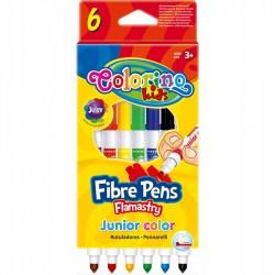 Colorino Kids farebné fixky Junior 6 farieb