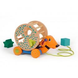 Oops drevená edukačná hračka na ťahanie Happy