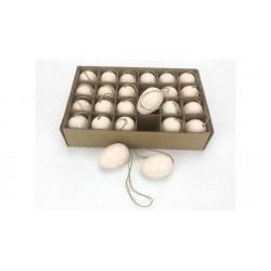 Veľkonočné vajíčka 24 ks - púdrové s bodkami