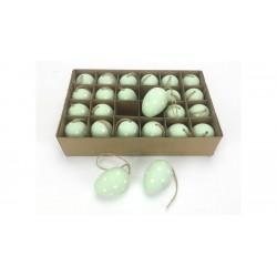 Veľkonočné vajíčka 24 ks - zelené s bodkami