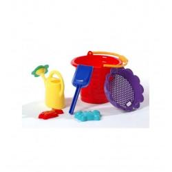 Hračky do piesku s krhličkou - 6-dielny set