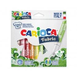 CARIOCA farebné fixky na textil 12 farieb