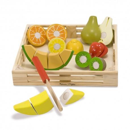 Melissa & Doug Drevené potraviny na krájanie - ovocie