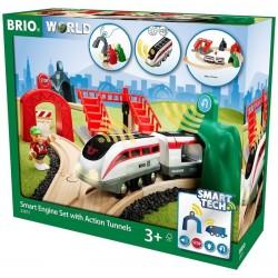 Brio 33873 Inteligentný vlak s aktívnymi tunelmi Smart Tech