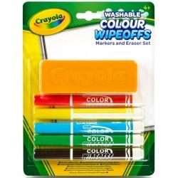 Crayola 98-9302 Fixky na tabuľu s hubkou