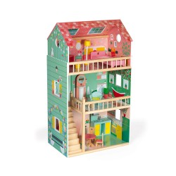 Janod Happy Day Drevený domček pre bábiky Barbie