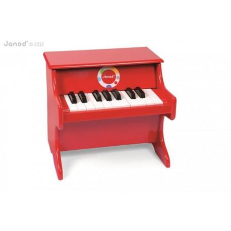 JANOD detský drevený klavír červený