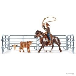Schleich 41418 set cowboy s lasom na koni