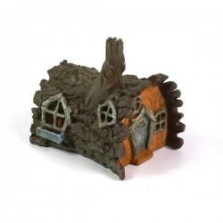 Domček pre miniatúrne záhradky - Chalúpka v kôre stromu