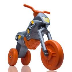 Enduro MotoKidZ Detské odrážadlo - motorka MAXI - šedo-oranžová