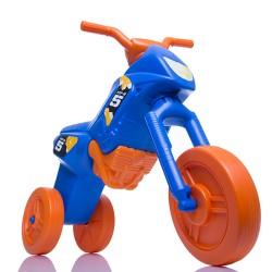 Enduro MotoKidZ Detské odrážadlo - motorka MAXI - modro-oranžová