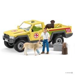 Schleich 42503 záchranné terénne auto s veterinárom