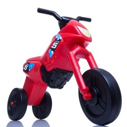 Enduro MotoKidZ Detské odrážadlo - motorka MINI - červeno-čierna