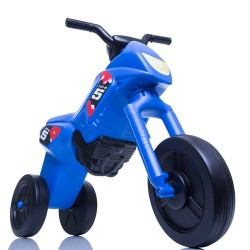 Enduro MotoKidZ Detské odrážadlo - motorka MINI - modro-čierna