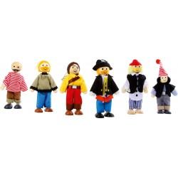 Legler Drevená 6-dielna sada figúriek - piráti