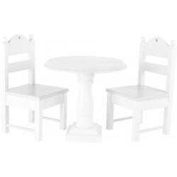 Legler Detský drevený stôl a stoličky pre bábiky