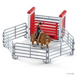 Schleich 41419 set cowboy na býku v ohrádke