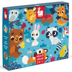 JANOD Detské dotykové puzzle Zvieratká v lese