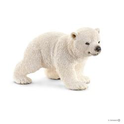 Schleich 14708 divoké zvieratko medveď biely mláďa